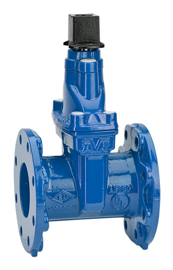 Gate valve with approved rubber compound and vulcanized wedge, original design, strong stem and corrosion protected.