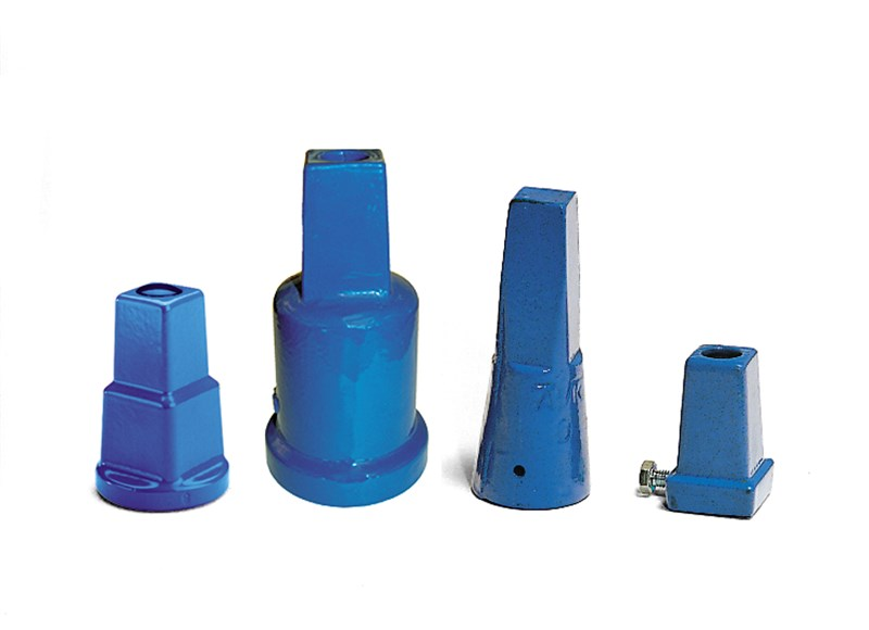Stem caps protects the top of spindlers, service- and gate valves, various sizes and epoxy coated.