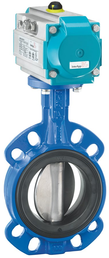 Centric butterfly valve in wafer, lug and u-section design, anti-blowout shaft, stainless steel for low torques.
